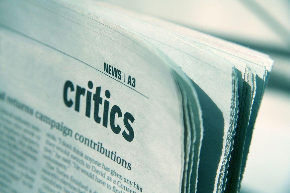 the danger of being a critic critics criticism
