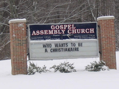 Bad Church Sign Maurilio Amorim