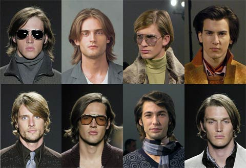 long hair model male