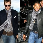 Tom Brady and Usher wearing the casual knott