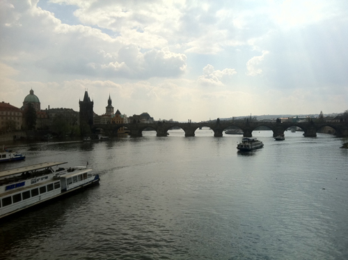 Prague bridge view