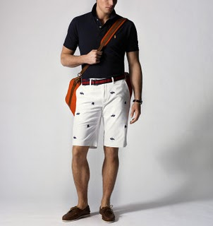 preppy shorts and shoes