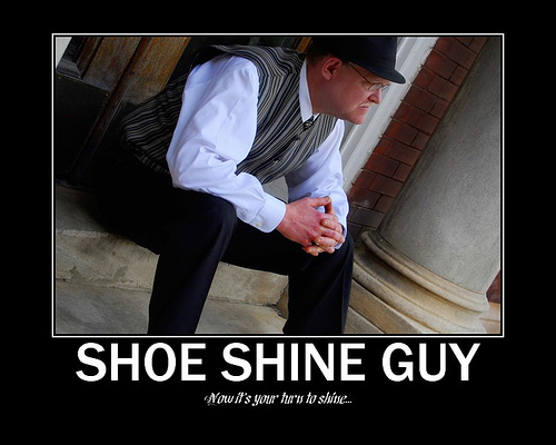 Gary the shoe shine Guy