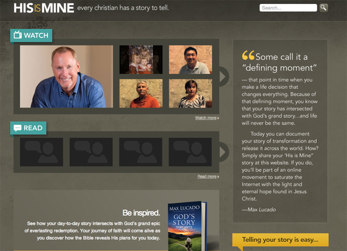 HisisMine website Max Lucado
