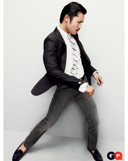tuxedo Jacket and jeans